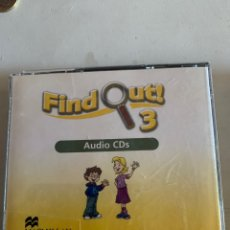 Livros: FIND OUT 3 AUDIO CDS. Lote 210643634