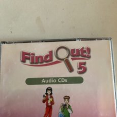 Libros: FIND OUT 5 AUDIO CDS. Lote 210644002