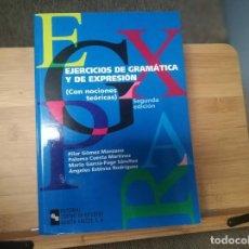 Libros: EJERCICIOS DE GRAMÁTICA Y DE EXPRESIÓN. Lote 214341327