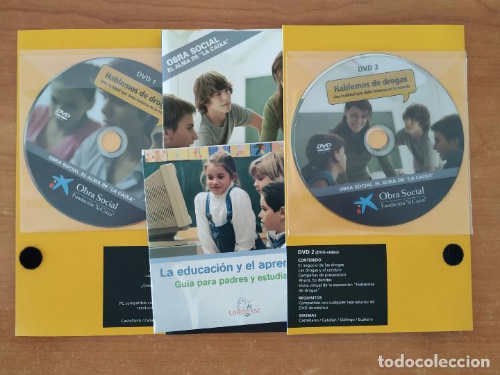 Libros: Hablemos de drogas. Kit educativo. Libro + CDRom + 2 DVD. Obra Social La Caixa. - Foto 2 - 214529145