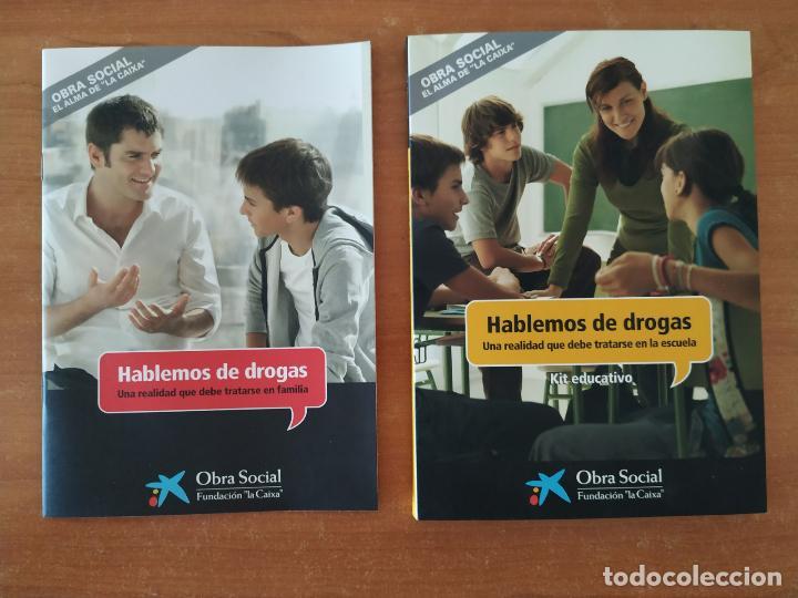 HABLEMOS DE DROGAS. KIT EDUCATIVO. LIBRO + CDROM + 2 DVD. OBRA SOCIAL LA CAIXA. (Libros Nuevos - Educación - Aprendizaje)