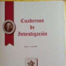Libros: CUADERNOS DE INVESTIGACIÓN, FUNDACION FORO JOVELLANO, DEL NUMERO 1 AL 7,PYMY 22. Lote 215298496