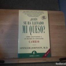 Libros: ¿QUIÉN SE HA LLEVADO MI QUESO?. Lote 215725623