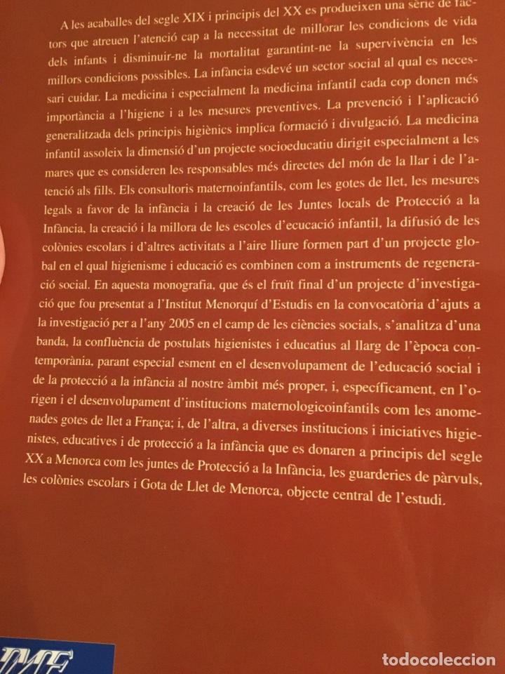 Libros: LA GOTA DE LLET: protecció de la infància i educació social a la Menorca contemporània - Foto 2 - 216743910
