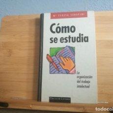 Libros: CÓMO SE ESTUDIA. Lote 216803151