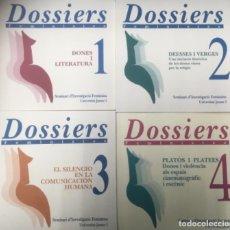 Libros: 4 LIBROS - DOSSIERS FEMINISTES DEL Nº1 AL Nº4. Lote 217502333
