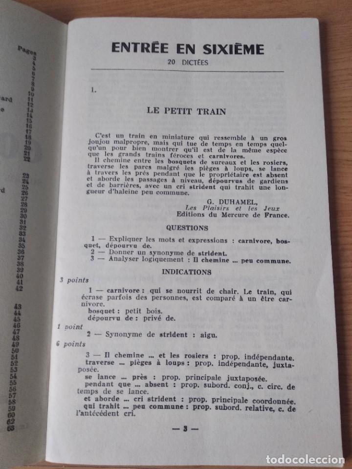Libros: 60 dictees . Jean maitron.sixieme. frances. - Foto 3 - 218387140