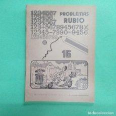 Libros: PROBLEMAS RUBIO Nº 16 - AÑO 1978 - SIN ESTRENAR. Lote 239676910