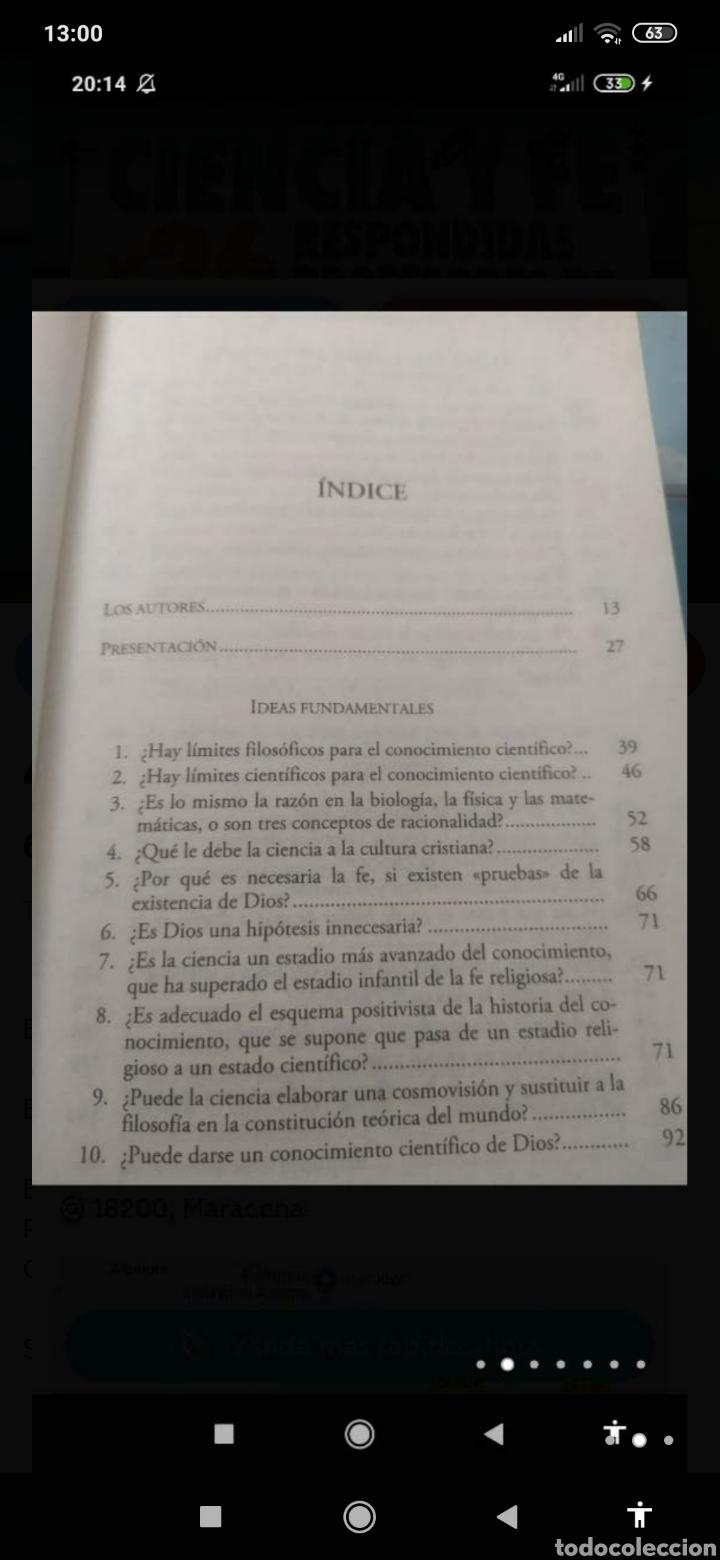 Libros: 60 PREGUNTAS SOBRE CIENCIA Y FE RESPONDIDAS POR 26 PROFESORES DE UNIVERSIDAD - Foto 2 - 218785325