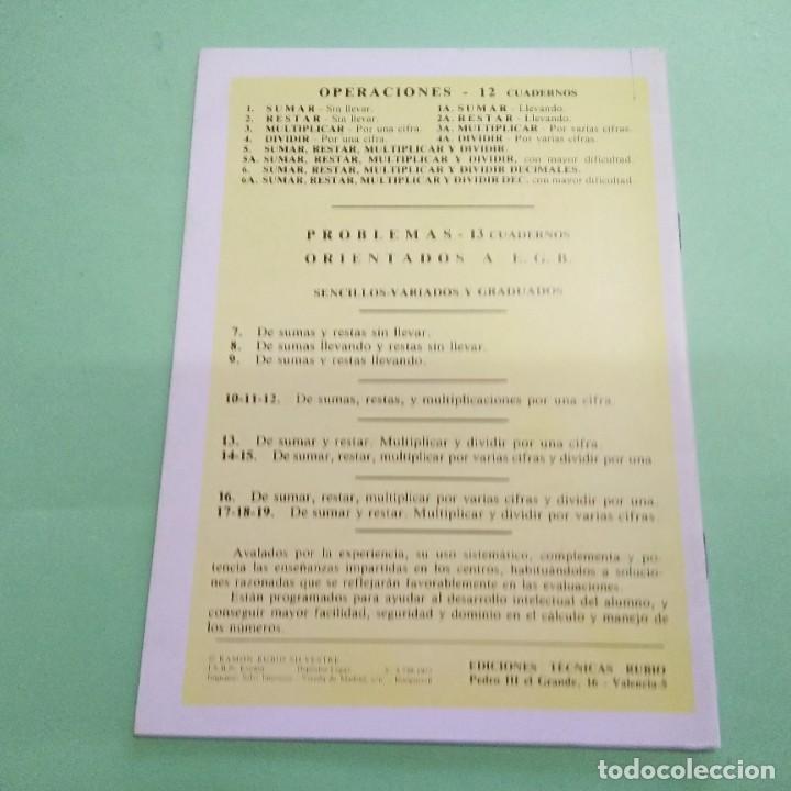 Libros: CUADERNOS RUBIO - PROBLEMAS Nº 5 PARA LAS 4 OPERACIONES - 1984 - SIN ESTRENAR - Foto 2 - 219098021