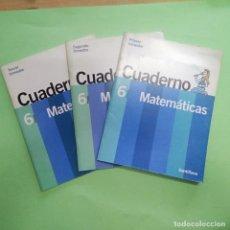 Libros: CUADERNOS MATEMATICAS SANTILLANA 6º CURSO - TRES TRIMESTRES- SIN ESTRENAR. Lote 219098511