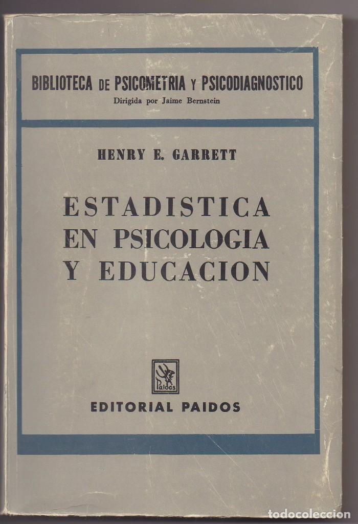 ESTADISTICAS EN PSICOLOGIA Y EDUCACION (Libros Nuevos - Educación - Aprendizaje)
