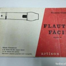 Libros: LIBRO DE FLAUTA MÚSICA FÀCIL 1970. Lote 221470695