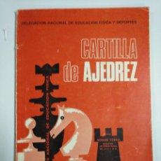 Libros: CARTILLA DE AJEDREZ. Lote 221470928