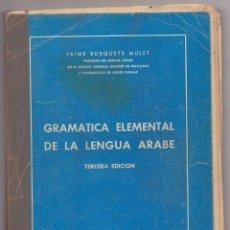 Libros: GRAMATICA ELEMENTAL DE LA LENGUA ARABE. Lote 221962232