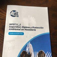 Libros: SEGURIDAD HIGIENE Y PROTECCIÒN AMBIENTAL HOSTELERIA. CUADERNO EJERCICIOS. Lote 222012736