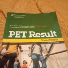 Libros: PET RESULT STUDENT`S BOOK. Lote 222381667