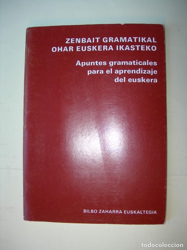 ZENBAIT GRAMATIKAL OHAR EUSKERA IKASTEKO / BILBO ZAHARRA EUSKALTEGIA (Libros Nuevos - Educación - Aprendizaje)