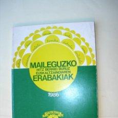 Libros: MAILEGUZKO HITZ BERRIEI BURUZ EUZKALTZAINDIAREN ERBAKIAK. Lote 225563310