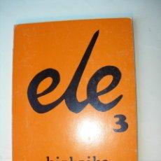Libros: ELE3 / BIZKAIKO A E K. Lote 225581225