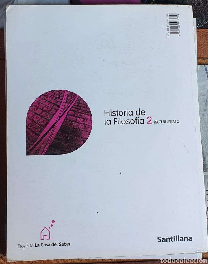Libros: HISTORIA DE LA FILOSOFÍA 2 BACHILLERATO SANTILLANA - Foto 2 - 226025510