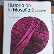 Libros: HISTORIA DE LA FILOSOFÍA 2 BACHILLERATO SANTILLANA. Lote 226025510