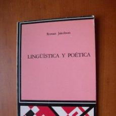 Libros: LINGÜÍSTICA Y POÉTICA / ROMÁN JAKOBSON. Lote 228183365