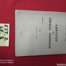 Libros: EJERCICIOS DE LENGUA FRANCESA AÑO 1952. Lote 228414175