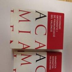 Libros: 2 LIBROS DICCIONARI GRAMATICA VALENCIA. Lote 229214430