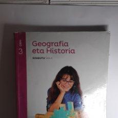 Livres: GEOGRAFÍA ETA HISTORIA 3 DBH SANTILLANA. Lote 233751820