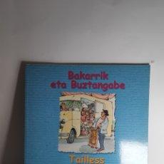 Libros: BAKARRIK ETA BUZTANGABE. TAILLES AND ALL ALONE. Lote 233789375