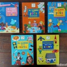 Libros: LOT 5 LLIBRES ABC FLEURUS (JOCS D'INTERIOR, D'EXTERIOR, DE 0 A 3 ANYS, ACTIVITATS...) - PANINI. Lote 235835235