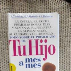 Libros: LIBRO TU HIJO MES A MES DE. PARRAMON. Lote 236090120