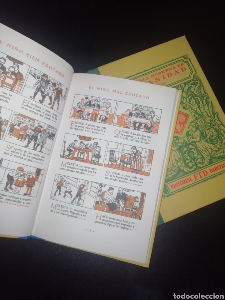 Libros: Cartilla Moderna de Urbanidad. 2 LIBROS EDITORIAL F.T.D BARCELONA - Foto 3 - 248987270