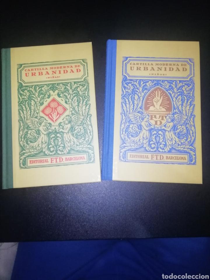 CARTILLA MODERNA DE URBANIDAD. 2 LIBROS EDITORIAL F.T.D BARCELONA (Libros Nuevos - Educación - Aprendizaje)