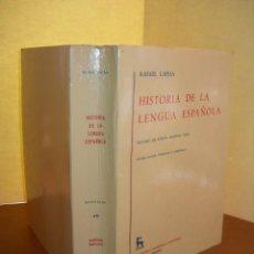 Livros: HISTORIA DE LA LENGUA ESPAÑOLA / RAFAEL LAPESA. Lote 253903410