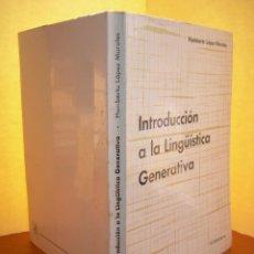Libros: INTRODUCCIÓN A LA LINGÜÍSTICA GENERATIVA / HUMBERTO LÓPEZ MORALES. Lote 253910175