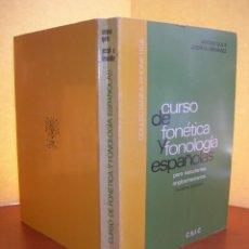 Libros: CURSO DE FONÉTICA Y FONOLOGÍA ESPAÑOLAS / A. QUILIS - J. A. FERNÁNDEZ. Lote 253991260