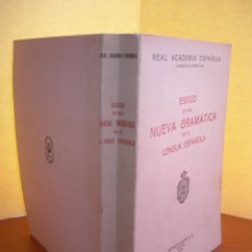 Libros: ESBOZO DE UNA NUEVA GRAMÁTICA DE LA LENGUA ESPAÑOLA / REAL ACADEMIA ESPAÑOLA. Lote 253995430