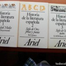Libros: HISTORIA DE LA LITERATURA ESPAÑOLA / 3 TOMOS. Lote 254015705