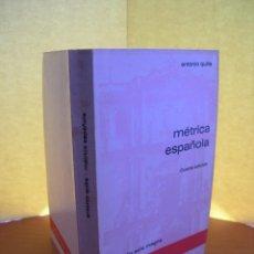 Livros: MÉTRICA ESPAÑOLA / ANTONIO QUILIS. Lote 254018360