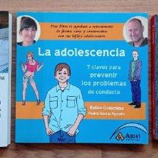 Libros: LOTE 3 LIBROS APRENDER A EDUCAR - LA ADOLESCENCIA - LOS 7 HABITOS DE LOS ADOLESCENTES. Lote 264749794