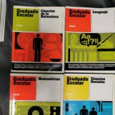 Libros: GRADUADO ESCOLAR EDICIONES CEAC, 4 TOMOS.. Lote 266776279