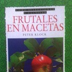 Libros: FRUTALES EN MACETAS COMO SELECCIONAR Y CULTIVAR. Lote 267867319