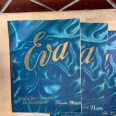Libros: EVA - CURSOS DE CORTE Y CONFECCIÓN POR CORRESPONDENCIA - ACADEMIA AEI, SAN SEBASTIÁN.. Lote 268882619