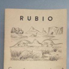Livros: CUADERNO RUBIO ESCRITURA VERTICAL Nº 04, COMPLETO, SIN USAR, DEPÓSITO LEGAL 1963. Lote 270993583