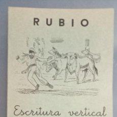Livros: CUADERNO RUBIO ESCRITURA VERTICAL Nº 5, COMPLETO, SIN USAR, DEPÓSITO LEGAL 1962. Lote 270993593