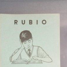 Livres: CUADERNO RUBIO EJERCICIOS DE TRAZOS Nº 13, COMPLETO SIN USAR, DEPÓSITO LEGAL 1962. Lote 270993618