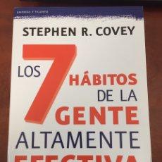Livres: LOS 7 HÁBITOS DE LA GENTE ALTAMENTE EFECTIVA. Lote 276028113