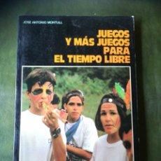 Libros: LIBRO JUEGOS PARA EL TIEMPO LIBRE. Lote 286526953